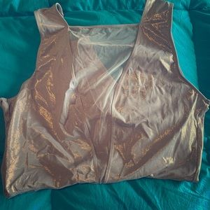NWT Victoria's Secret shimmery bodysuit with mesh